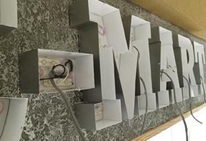 LED装飾ショップサイン